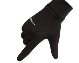 беговые перчатки Скидка Спортивные перчатки на открытом воздухе, велоспорт, мужчины и женщины относятся к зимнему велоспорту, футболу, противоскользящим, водонепроницаемым, сенсорным экранам.