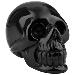 Wholesale Bone Inlay - Free transportation of human shaped crystal skull bones, Natural Black Obsidian Crystal Skull statue Glyptic candy Crania Natural 6cm