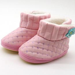 1fb8dca00b7c1 Fleurs hiver chaud bébé chaussures nouveau-né garçon fille première  promenade bébé enfant en bas âge maison pantoufles bottes en dehors du  design en cuir pu ...