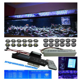Wholesale dimmable led aquarium - DIY Sunrise Sunset Wireless dimmable 60w 90w 120w Led aquarium light with LCD timer Programmable Remote Coral Reef Led Lighting