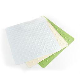 Wholesale Options Pads - 1 pcs Bathroom toilet Slip Suction Square Pad, Bump Massage, Natural Rubber Material - 3 colors Options