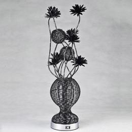 Wholesale E27 String - Free Shipping lowest price aluminum string flower vase table lamp novel hand made G4*4 decor table lamp bedroom decor lighting