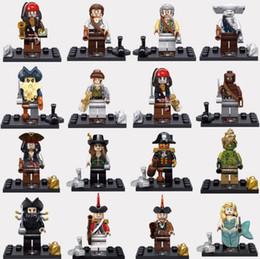Wholesale Building Blocks Pirate Ship - super hero capital pirates 0f the jack sparrow minifigures of mix figure building blocks free ship 666