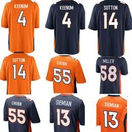 412f6e1ca0f79 14 Courtland Sutton 55 Bradley Chubb 4 caso Keenum jersey Denver Broncos  Hombres 30 Terrell Davis 58 Von Miller 7 John Elway camisetas de fútbol