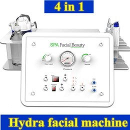 Wholesale Portable Oxygen Equipment - Portable 4 In 1 Facial Pore Vacuum Hydro Dermabrasion Peeling Machine Water Oxygen care BIO face lifting equipment