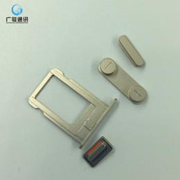 Canada 1set (Power On Off + Volume Commutateur + Mute + sim carte) côté Bouton pour iPhone 5S côté claviers or / argent / gris couleurs de remplacement Offre