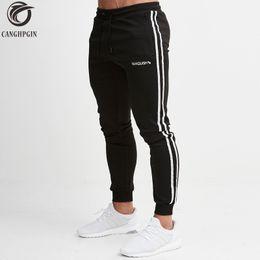 2019 herren-baumwoll-leggings CANGHPGIN Skinny Sport Leggings Männer Laufen Jogginghose Sportbekleidung Jogger Strumpfhosen Mens Gym Fitness Hosen günstig herren-baumwoll-leggings