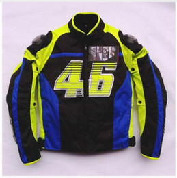Wholesale Waterproof Suit Motorcycle - Free shipping 1pcs NEW Men Motorcycle Moto Bike Jacket Racing Suits Armor Riding Clothes with 5pcs pads protector L
