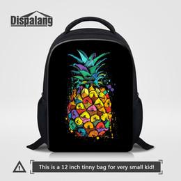 Wholesale School Bagpacks - Dispalang Furit Pineapple Printing School Backpack For Kids 12 Inch Small Bookbags For Preschoolers Girls Cute Bagpacks Rucksack