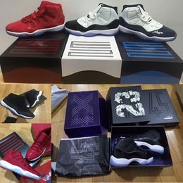 Wholesale Gold Jam - Air retro 11mens Basketball Shoes 11s Gym Red Chicago Midnight Navy WIN LIKE 82 UNC Space Jam 45 Concord Bred Sport shoes
