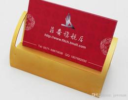 calidad titular de la tarjeta de crédito metal Rebajas Al por mayor-negro / oro / plata calidad Aluminio oficina de negocios / tarjetas de crédito / ID, soporte de almacenamiento de tarjeta de escritorio envío gratis