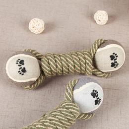 2019 filhote de cachorro de algodão Pet Chew Toys for Dog Filhote de Cachorro Dentes Produtos para Treinamento de Limpeza Pet Suprimentos corda de Algodão brinquedo de tênis molar dog toy ball filhote de cachorro de algodão barato