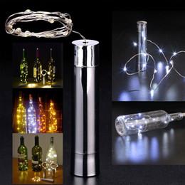 20 LED con batería Recubrimiento de botella de vino Tapón Cobre DIY LED Luces de cadena Fairy Strip Lámpara de noche Luces de fiesta al aire libre Decoración desde fabricantes