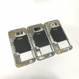 Wholesale Button Frames - For Samsung Galaxy S6 G920A G920P G920F High Quality Middle Frame Bezel Housing Replacement With Side Button