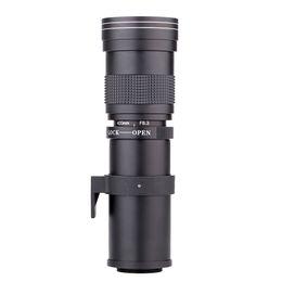 2019 câmera d anel 420-800mm f / 8.3-16 lente super-telefoto lente zoom manual + t2 adaptador de anel para canon eos 1000d 1100d 1200d 1300d 100 d 200d lente da câmera 300d câmera d anel barato