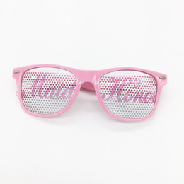Wholesale Hot Pink Eyeglasses - Pink Plastic Glasses Bride Maid Of Honor Spectacles For Wedding Party Bridesmaids Decor Eyeglass Hot Sale 3ap B