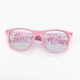 Wholesale Bride Glasses - Pink Plastic Glasses Bride Maid Of Honor Spectacles For Wedding Party Bridesmaids Decor Eyeglass Hot Sale 3ap B