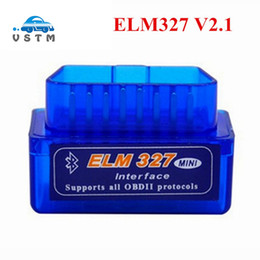 Wholesale Elm Bluetooth Mini - 2018 Super Mini ELM327 Bluetooth V2.1 OBD2 Car Diagnostic Tool Mini ELM 327 Bluetooth For Android Symbian For OBDII Protocols
