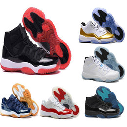 Wholesale Metallic Orange - 2018 new 11 XI Basketball shoes men and women white Olympic Concord Gamma Blue Varsity Red Navy Gum Sneaker Metallic Gold sneakers