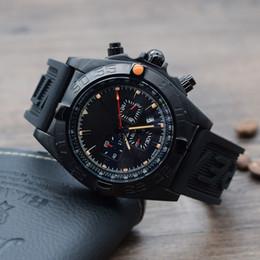 Montre course homme en Ligne-En gros de haute qualité reloj de lujo montres-bracelets bracelet en caoutchouc des hommes de montres à quartz hommes multifonctions style de course automobile montres