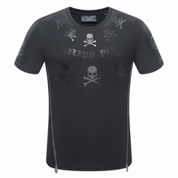 Wholesale Skull Shirts Mens - Skulls Print T Shirt Metal Mens Crew Neck Short Sleeves T-shirts High Quality Summer Men Skateboard Tee Boy Hip Hop Tshirt Tops