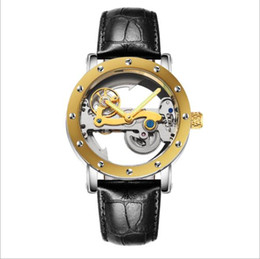 Wholesale Mechanical Hollow Sided - Luxury brand WOONUN fashion high-end men's watch all steel automatic mechanical business watch, double-sided hollow transparent watch