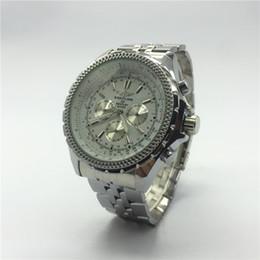 Vestiti svizzeri online-Top Luxury Brand All Subdials Work Orologi da uomo Montre Homme Orologi meccanici svizzeri Orologio da uomo in acciaio pieno con orologio da uomo
