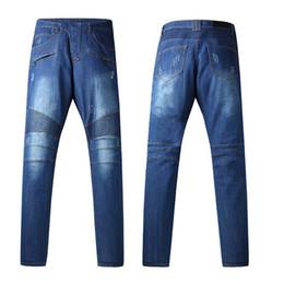Wholesale Jeans Pants New Design - Men's height quality brand design jeans new men blue elastic jeans new men's jeans US Size 30 to 40