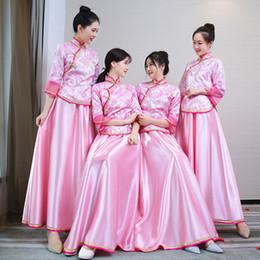 2018 невесты и подружки невесты сестры темперамент элегантный ретро парча длинные китайские невесты платье от