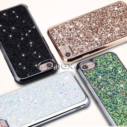 Wholesale wholesale champagne diamonds - The Glamor 2 in 1 Slim Hybrid Diamond Bling Glitter Case For iPhone X 8 7 6 Plus Samsung S9 Plus