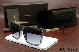 Wholesale ford tops - luxury top qualtiy New Fashion 0392 Tom Sunglasses For Man Woman Erika Eyewear ford Designer Brand Sun Glasses with original box