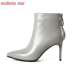 aa2f6914a8 botas agradáveis Desconto Midnite star Inverno Moda Lazer Ankle Boots Zip  Confortável Quente De Pelúcia Fácil