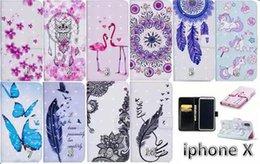перья фламинго Скидка 3D кожаный бумажник цветок фламинго Сова кружева слот для карты чехол бабочка перо чехол для iphone X 7G 8G 6 S плюс 5S Samsung S9 S8 плюс