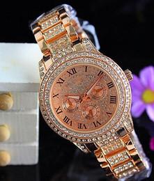 Wholesale Michael Glasses - 2019 Luxury Famous Designer Women Rhinestone watches fashion luxury Brand Dress Michael ladies watch for Free Shipping