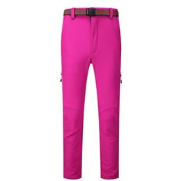 Pantalones de senderismo Mujeres Impermeable Rock Pantalones de escalada de montaña Windstopper Vestidos de campo de caza de esquí Tech Fleece Softshell desde fabricantes