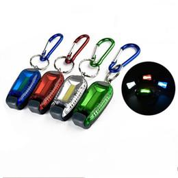 Anneau d'épi en Ligne-COB sac à dos lampe avertissement de sécurité en plastique portable LED lumière Ellipse forme lampe de nuit étanche avec porte-clés 5 39ak B