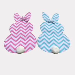 Wholesale Happy Balls - Popular Cotton Banner Happy Easter Rabbit Bunny Shape Hanging Garden Flags With Hair Ball Flag For Home Decor 13df B