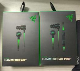 Razer Hammerhead Pro V2 Cuffie auricolari auricolari con microfono con auricolari da gioco in scatola al minuto Spedizione gratuita da