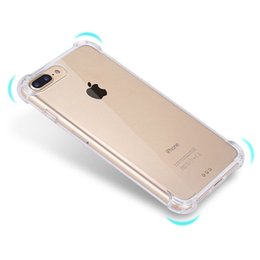 Wholesale pink clear rubber phone case - Hot sale phone case Clear Rubber Soft TPU phone case Airbag ShockProof Phone cover For Iphone X Coque