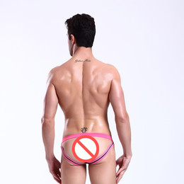 Wholesale Mens Sexy Strings - Men Sexy Jockstraps Underwear Men's Thongs G Strings Brief Bikini High Quality Mens Gay Penis Low Rise T-Back Buttocks Sexy Man Thong String