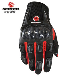 Wholesale Drop Shipping Bikes - Scoyco MC09 Motorcycle Racing Accessories Bike Bicycle Full Finger Protective Gear Gloves Free Drop Shipping Wholesale