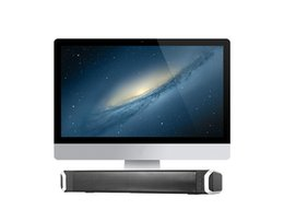 Wholesale computer speaker bar - DHL EMS free Soundbar Home Theater TV Speaker, Wired and Wireless Bluetooth Audio Speakers TF Card- Surround Sound Bar TV