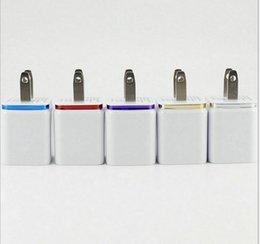 2019 enchufe cargador doble Comercio al por mayor Doble USB Plug Multicolor Cargadores de teléfono celular US Plug 5V 1A 1.8A adaptador para Samsung Android DUS1 rebajas enchufe cargador doble