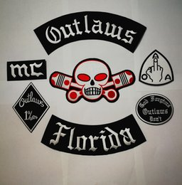 Nuove patch fuorilegge Patch ricamate su Biker Patch per la giacca da motociclista Vest Patch Old HAMC Outlaws MC Patch badge stocker da