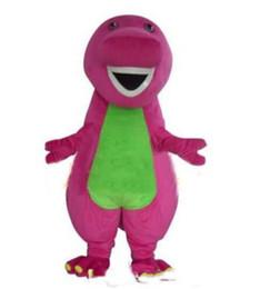 Wholesale Costume Dinosaur - 2018 High quality Profession Barney Dinosaur Mascot Costumes Halloween Cartoon Adult Size Fancy Dress