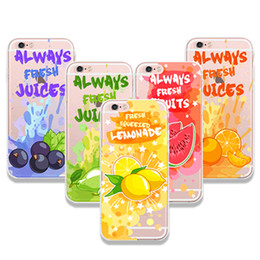 Wholesale Iphone Cases Drunk - Slim Summer Tropical Fruit Orange Strawberry Cute Drink Ice Cream Cases for iPhone 6 6s 7 8 Plus Silicone Hard Cover Pear Cherry