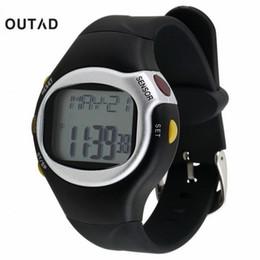 capteur de vitesse Promotion OUTAD Noir Couleur Pulse Cardiofréquencemètre Calorie Counter Stop Montre Calorie Counter Exercice Touch Sensor 6 en 1