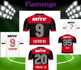 Wholesale Printed Football Jerseys - NEW GUERRERO CR soccer 17 18 Flamengo camisa futebol maillot de foot survetement football men shirt printed jerseyS l mpada polyester