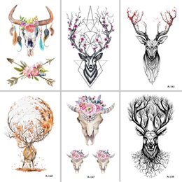 Wholesale Tattoo Stickers For Women - Best Fran Lcw113 New Siozre Temporary Tattoo For Women Tattoo Body Art 9 .8x6cm Waterproof Hand Fake Tatoo Sticker Elk Animal