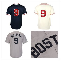 Wholesale Baseball Batting - Mens Mitchell & Ness Ted Williams Boston Red 1990 Authentic Cooperstown Collection Batting Practice Stitched Jersey Size S-5XL